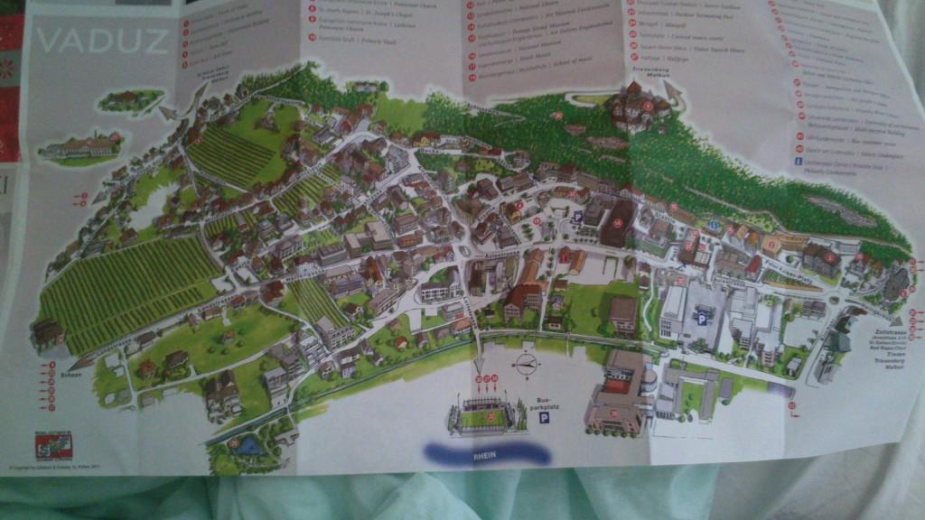 Stadtplan von Vaduz