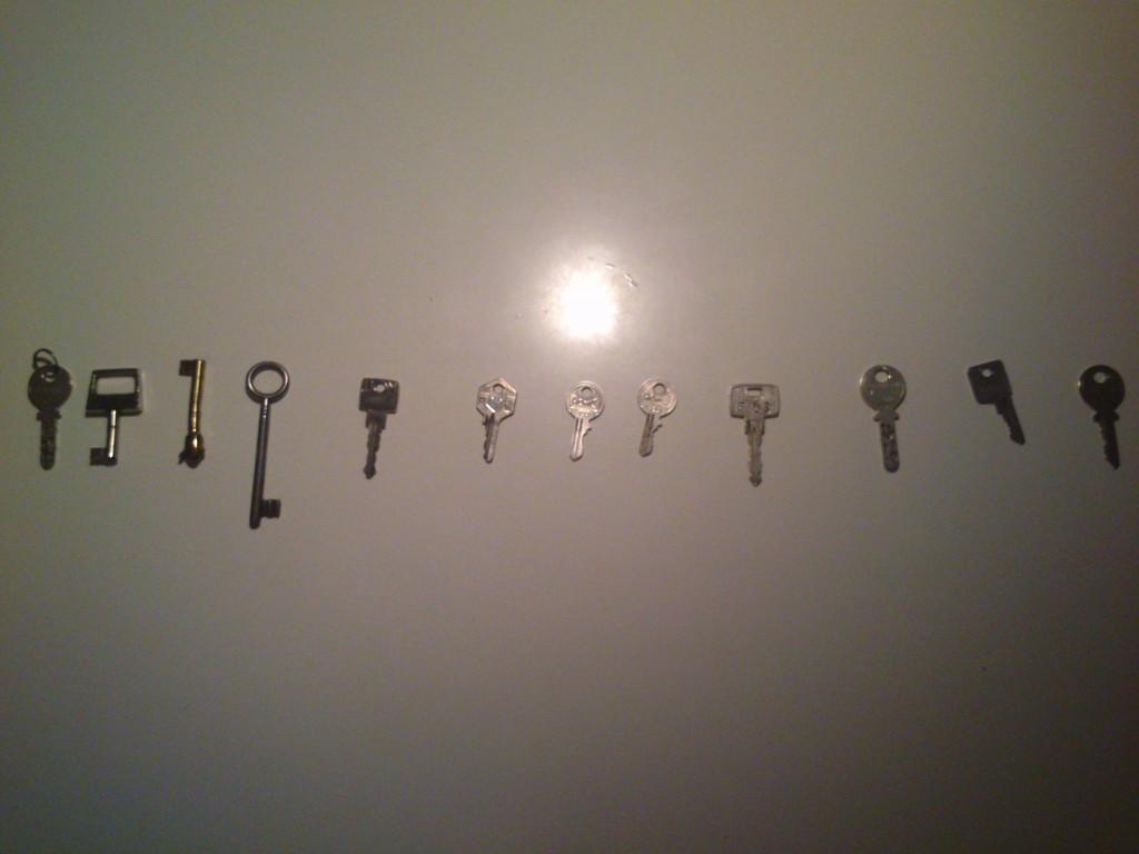 3 Monate, 12 Schlüssel - ein Schlüssel für jedes Kastl