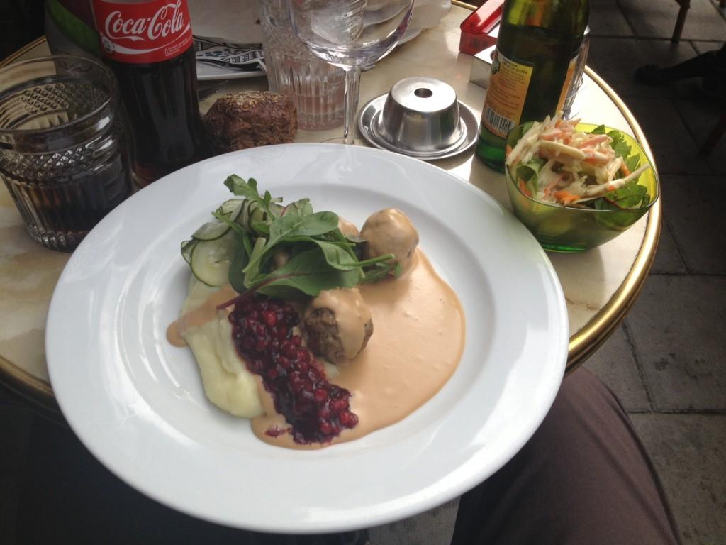Köttbullar im Restaurant Vurma