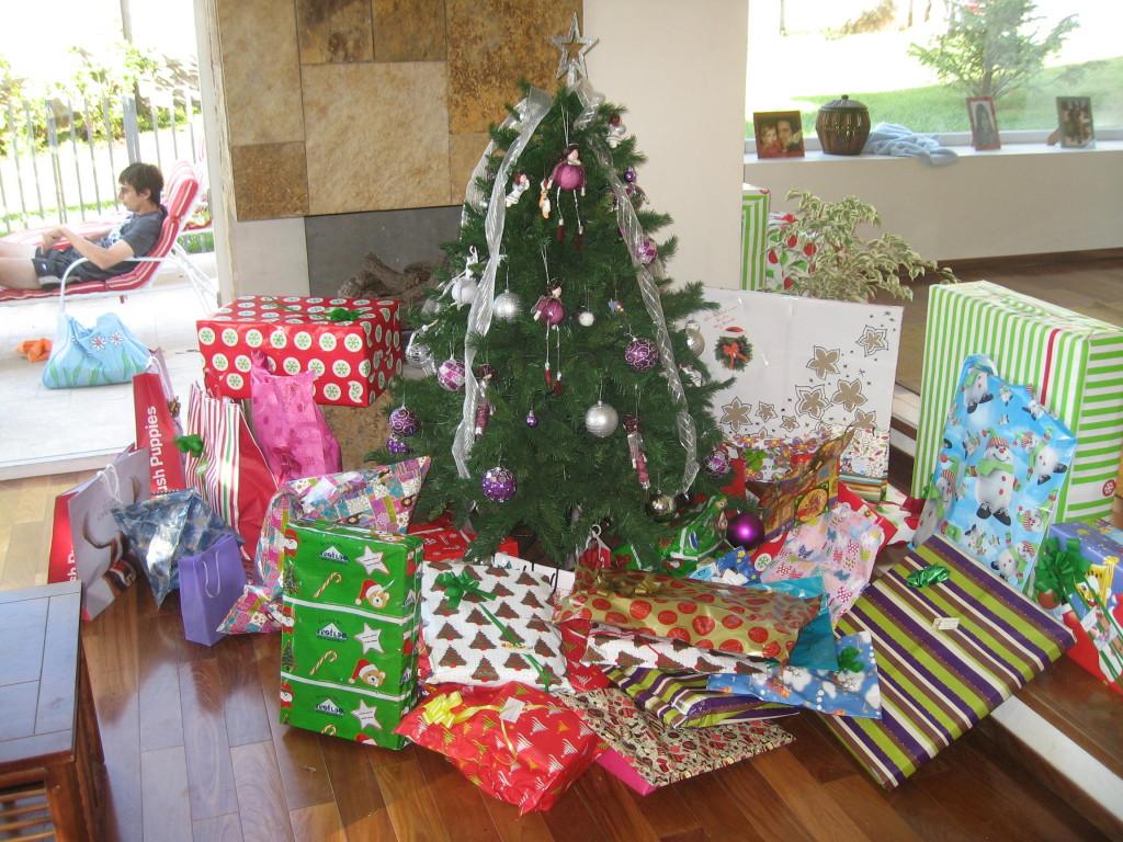 Geschenke für meine Aupairkinder. Auf dem Foto sind noch nicht alle zu sehen.