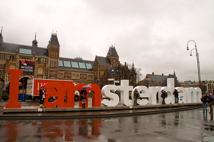 Im verregneten Amsterdam Anfang Februar.