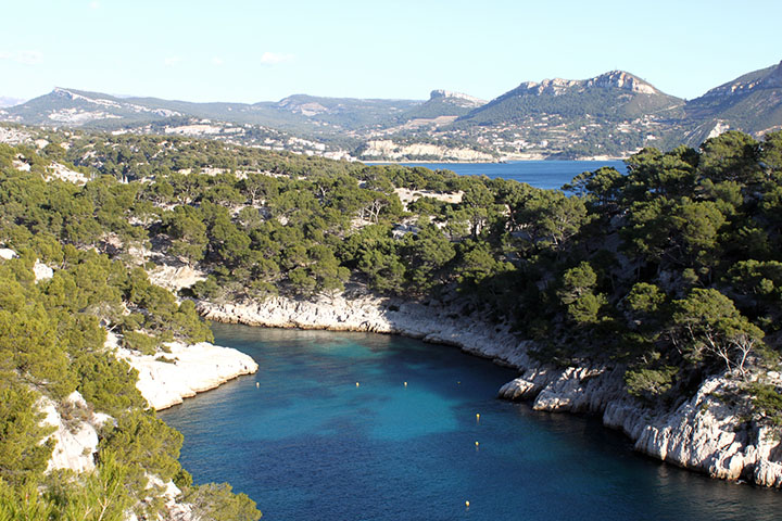 Beim Wandern in Les Calanques ...