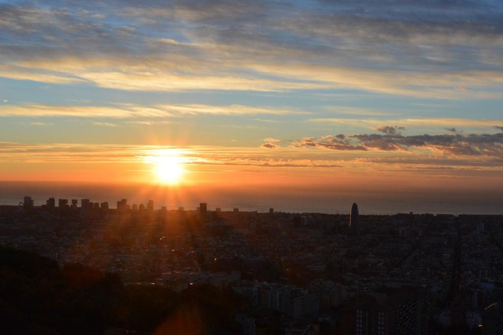 Sonnenaufgang am Búnker del Carmel