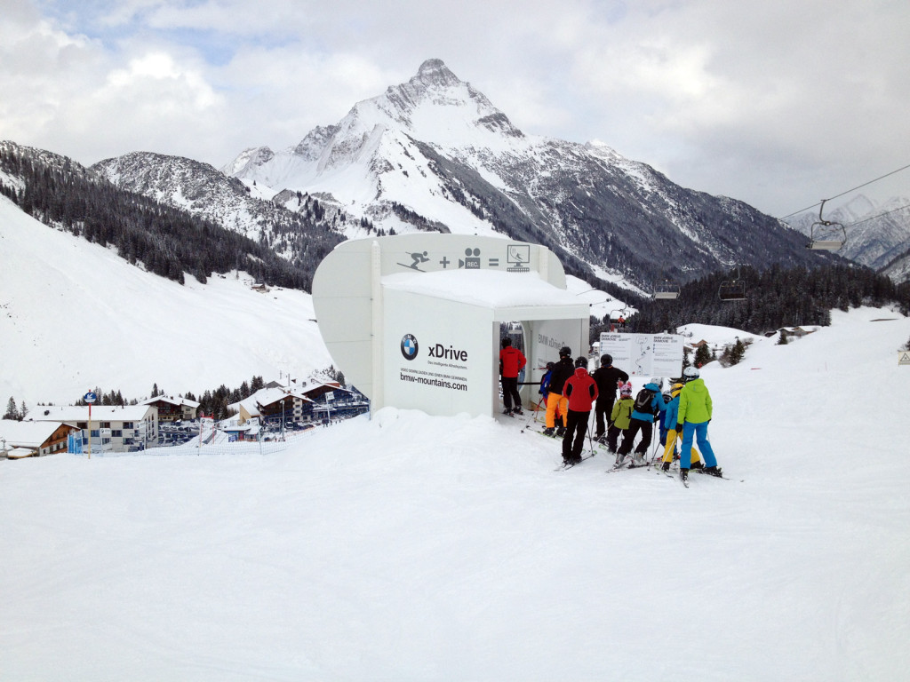 BMW xDrive Cup Renn-Strecke in Warth