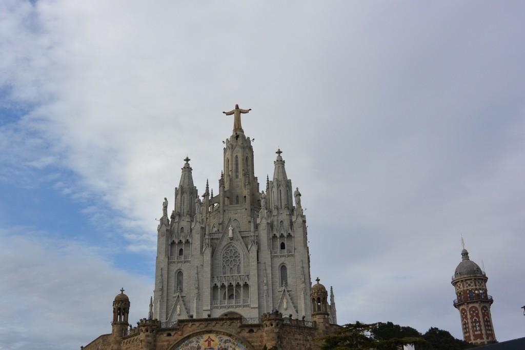 Am Tibidabo mit Kirche Sagrat Cor
