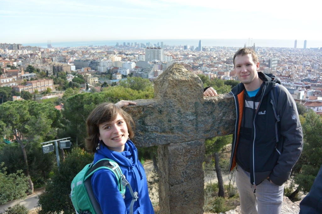 Am Turó de les tres creus mit Blick auf die Stadt.