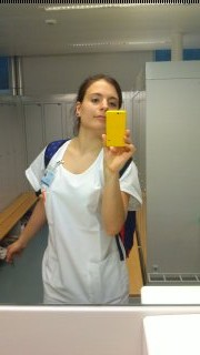 In Arbeitskleidung