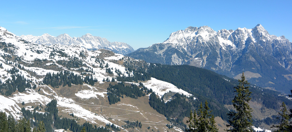 Bergpanorama Saalbach-Hinterglemm Leogang