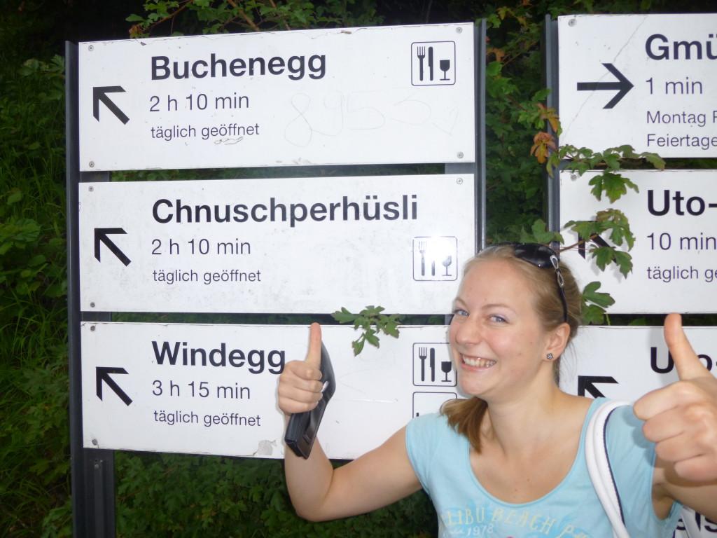 """Oja, toll war er, der Aufstieg Richtung """"Chnuschperhüsli"""" am Üetliberg in Zürich!"""
