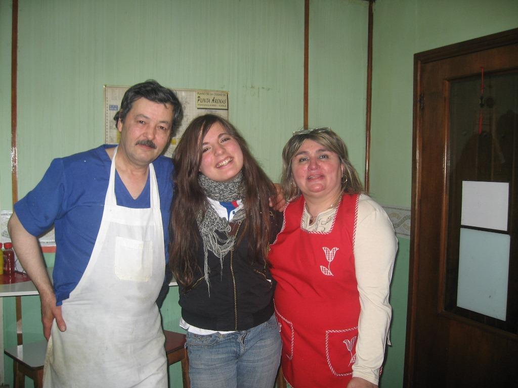 Mit den Besitzern meines kleinen Stammlokals