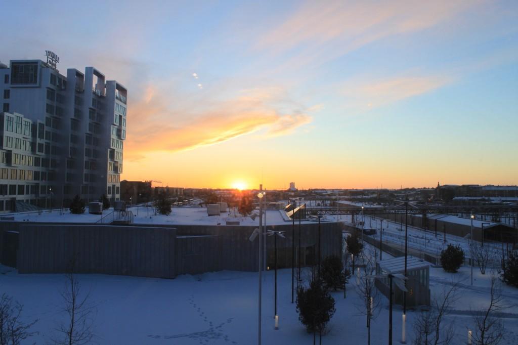 Sonnenuntergang in Kopenhagen