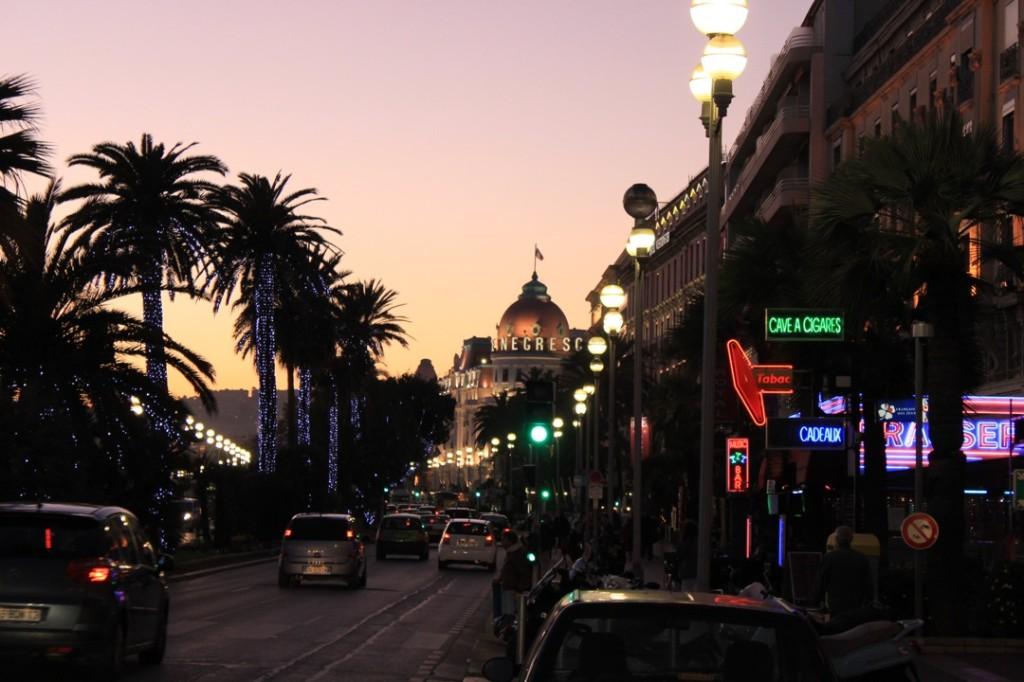 Sonnenuntergang in Nizza, kurz vor dem Rückflug nach Wien.