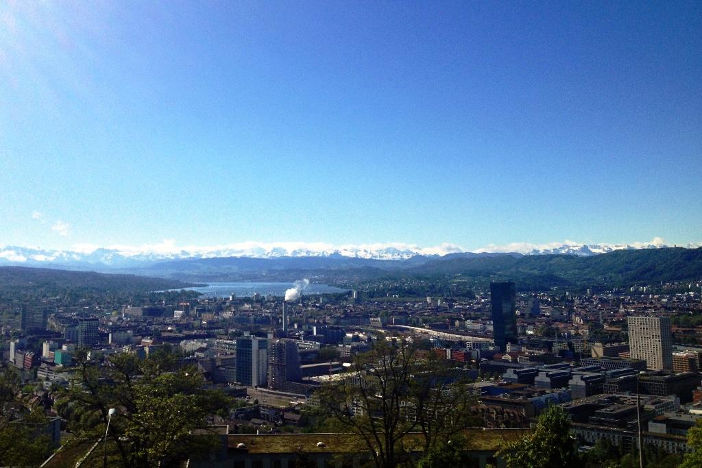 Aussicht auf Zürich vom Waid