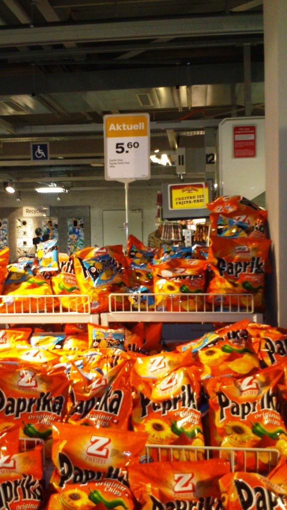 Preis für 300g Chips im Supermarkt
