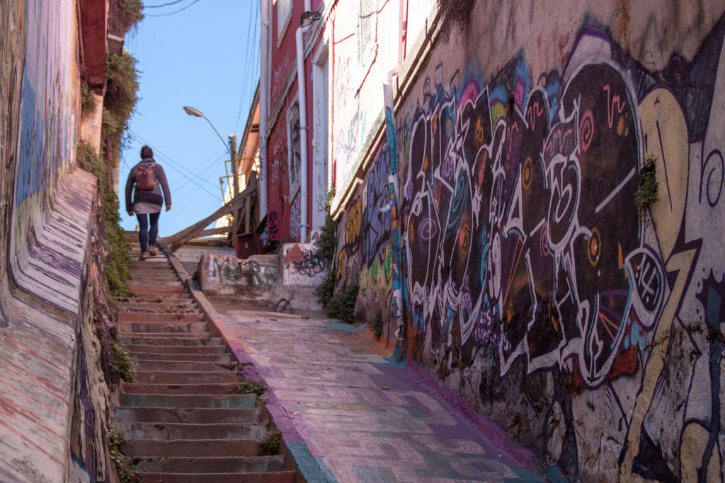 """Eine ehemalige """"Waschweiber-Rampe"""" in Valparaiso"""