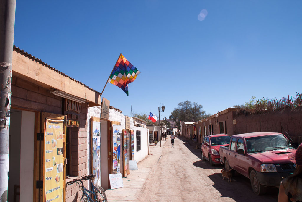 Hauptstraße in San Pedro de Atacama