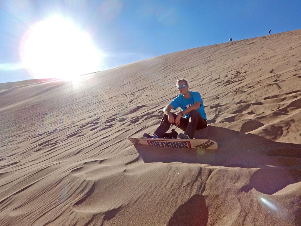 Chillen im Wüstensand (ohne dass der Hintern nass wird - yeah!)
