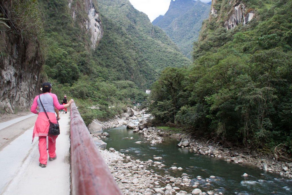 Weg von Aguas Calientes nach Machu Picchu