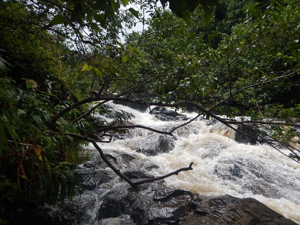 Hier ist Endstation: Der Na'ili'ili Stream verwandelt sich in ein gefährliches Gewässer mit starker Strömung ...