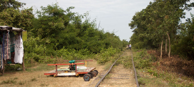 Mit dem Bamboo-Train durch Kambodscha