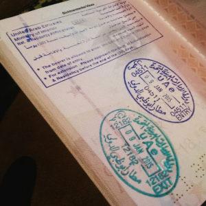 Abu Dhabi Stempel