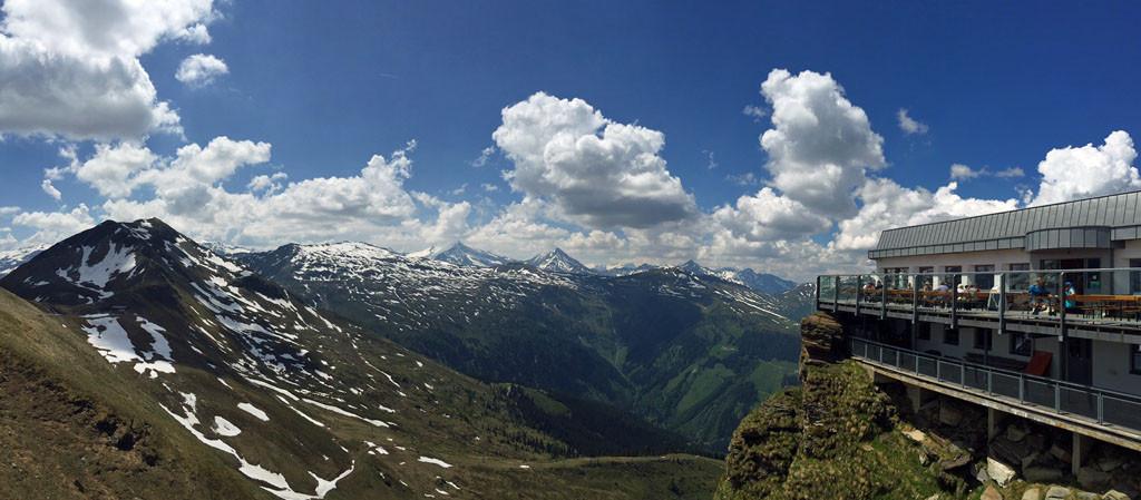 Panorama von der Bergstation Stubnerkogel
