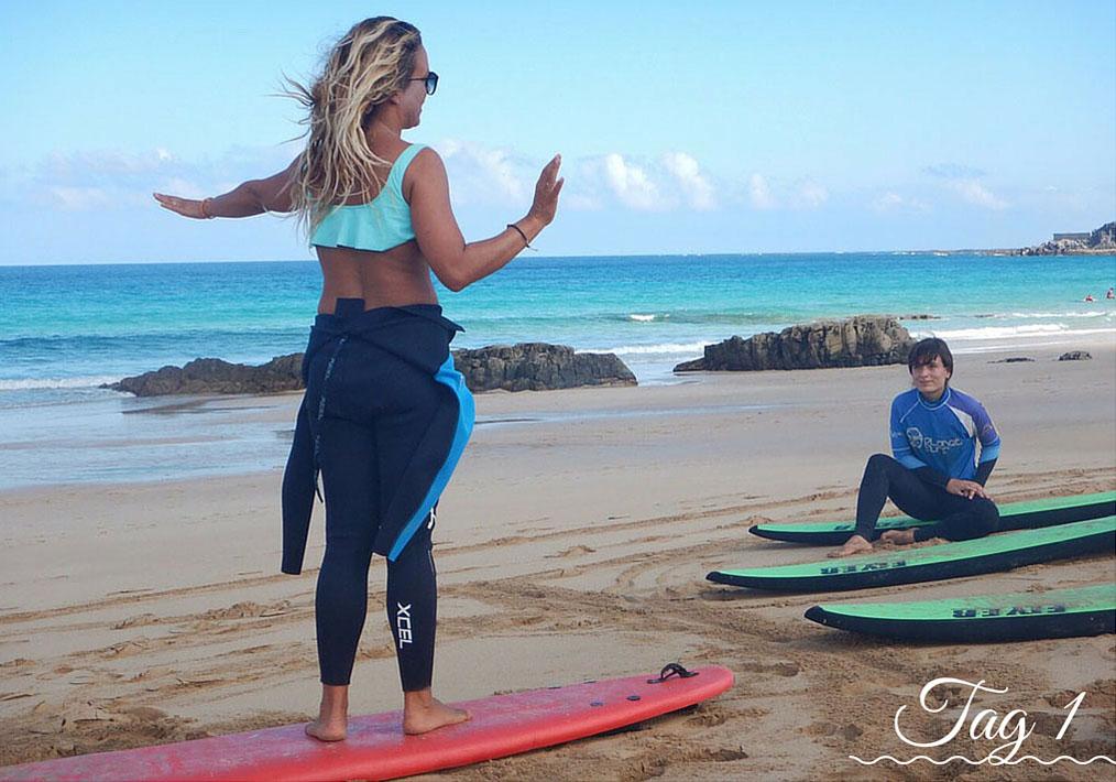 <h2>Tag 1 im Surfcamp</h2>