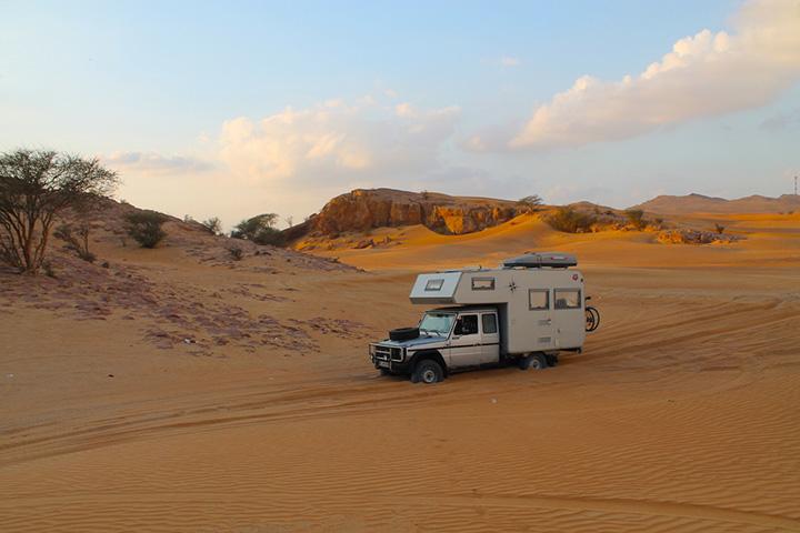 Schrödinger in der Wüste bei Dubai