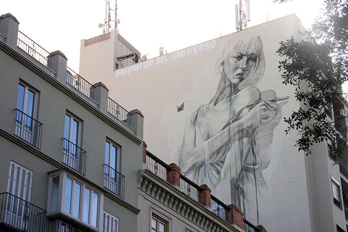 Auch die Murals von Faith47 sind enorm! Ihre Kunst sieht man üblicherweise in den Städten Südafrikas, von Kapstadt bis Johannesburg. Dieses hier gibt es in Málaga zu bestaunen.