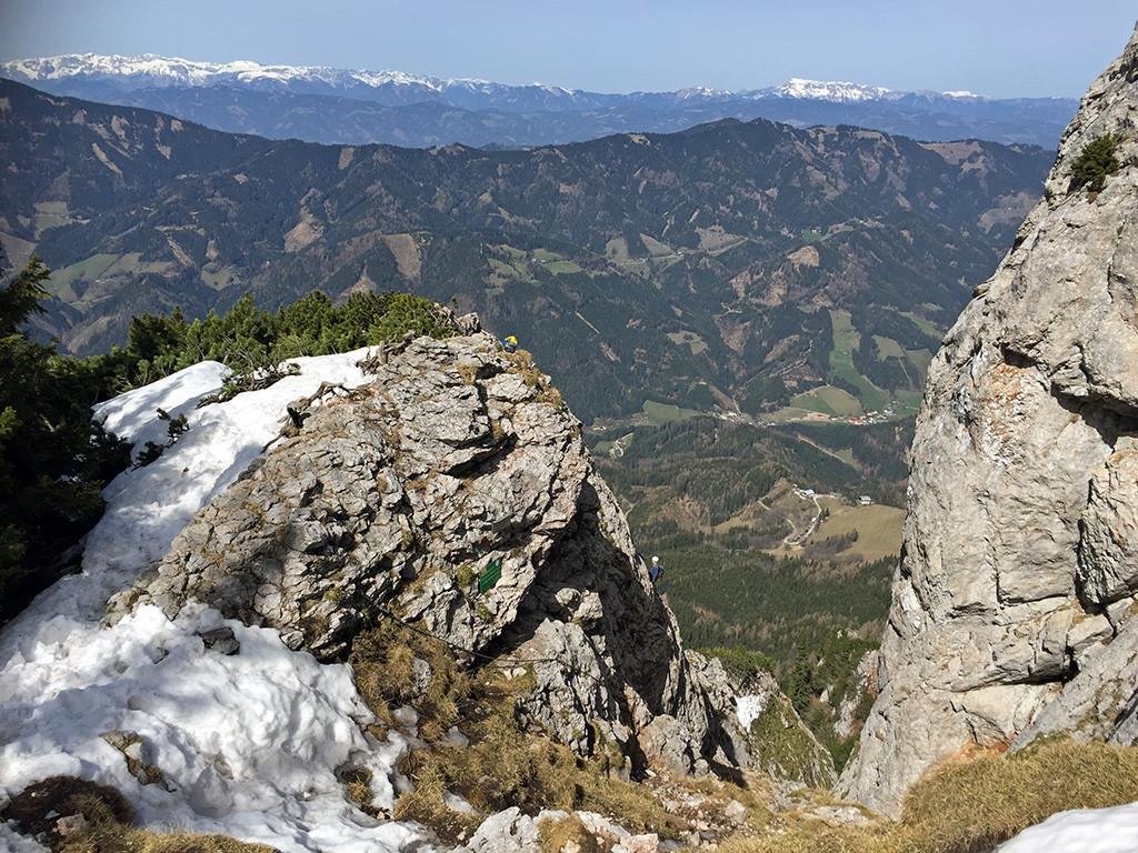 Geschafft! Ausstieg vom Franz-Scheikl-Klettersteig