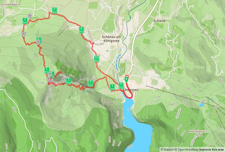 Wanderrung von Königssee mit Grünstein Überschreitung Richtung Hammerstiel / Schönau