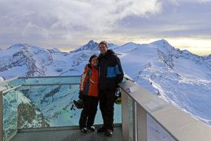 Aussichtsplattform am Kitzsteinhorn mit Großglockner im Hintergrund