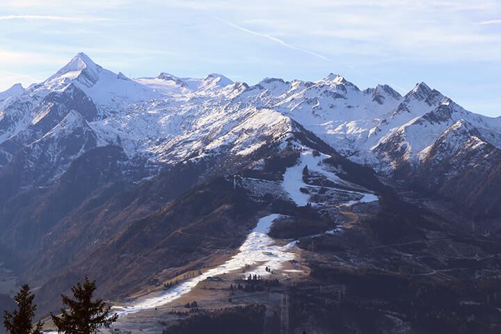 Kitzsteinhorn von der Areitalm auf der Schmittenhöhe aus betrachtet