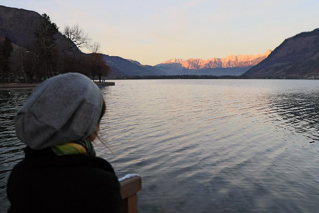 Zeller See und Alpenglühen