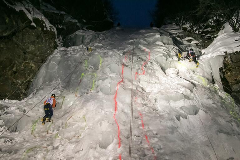 Ice Master Speed-Bewerb Flutlicht Finale