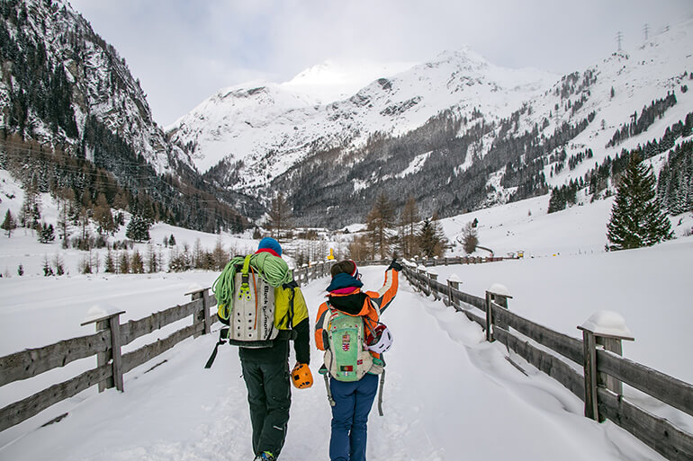 Zustieg zum Eispark Osttirol