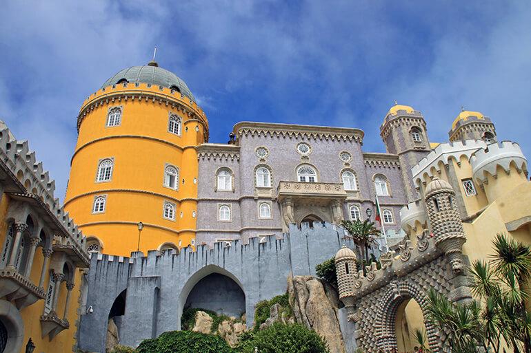 Der ehemalige Königspalast von Sintra