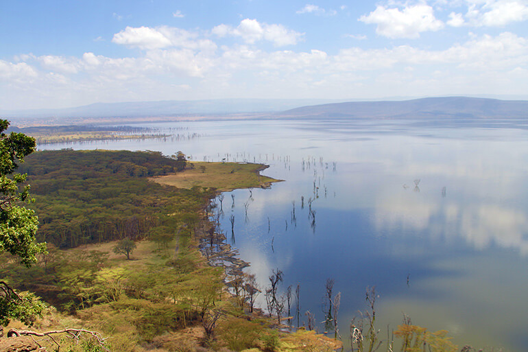 Lake Nakuru Baboon Cliff Lookout Panorama