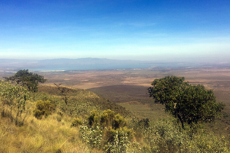 Lake Naivasha vom Mount Longonot