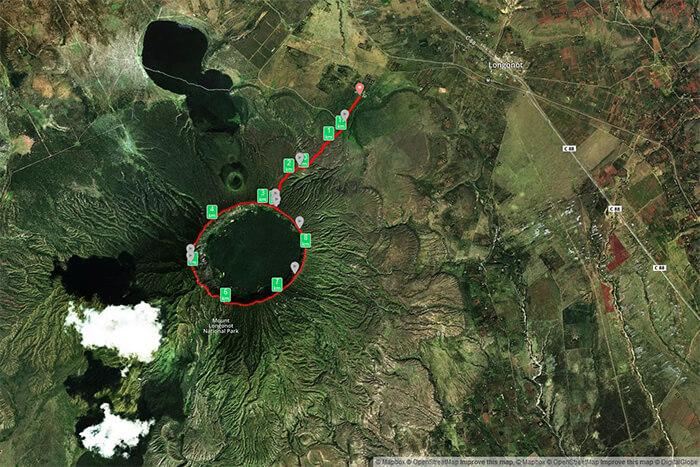 Wanderroute am Mount Longonot