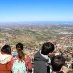 Ausblick San Marino Richtung Mittelmeer