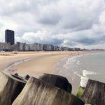 Ostende Strand und Skyline