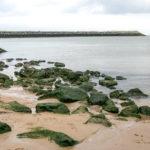 Ostende Strand mit Felsen