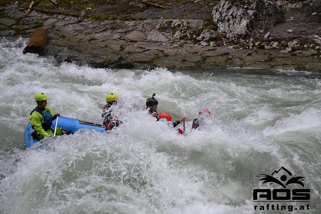 Rafting Tour auf der Enns mit AOS