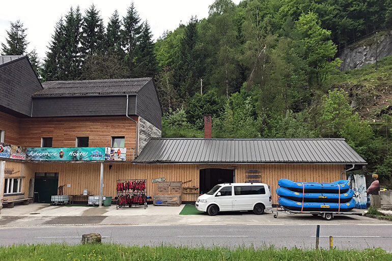 Adventure Hostel und AOS Camp in Großreifling