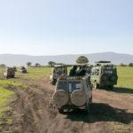 Safariautos im Ngorongoro Krater