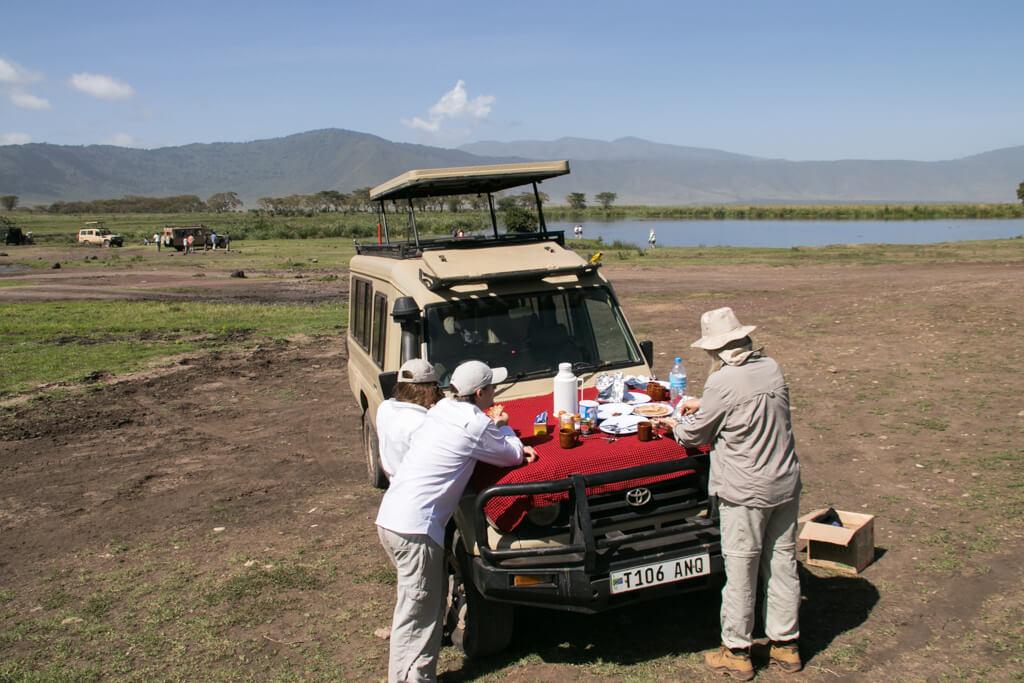 Mittagspause im Ngorongoro Krater