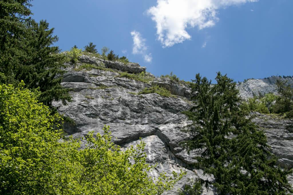 Einstiegswand vom Klettersteig am Leopoldsteinersee