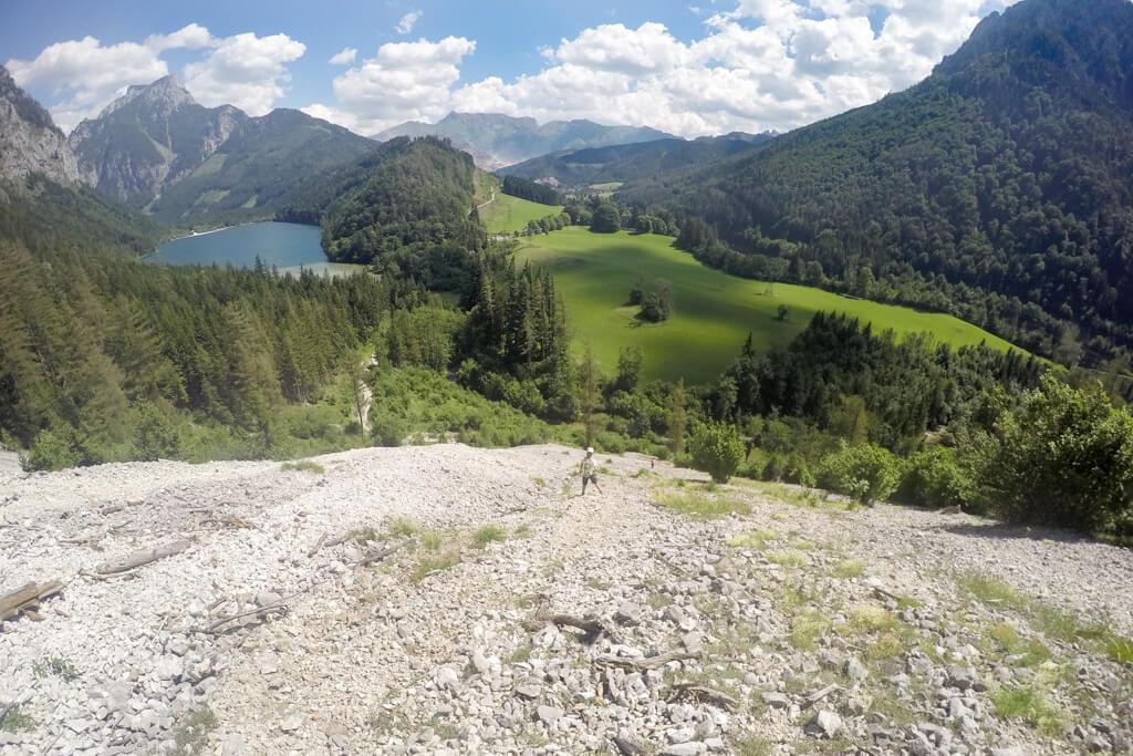 Abstieg zum Leopoldsteinersee