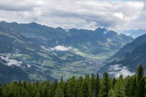 Blick über das Gasteinertal vom Graukogel